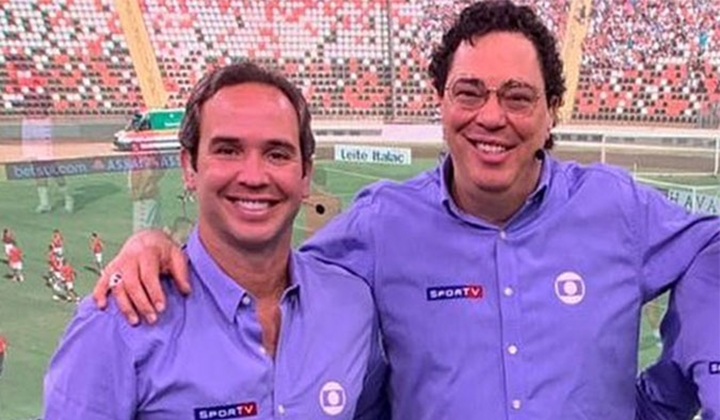 Caio Ribeiro e Casagrande protagonizaram discussão ao vivo. (Foto: Reprodução)