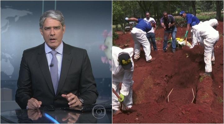 Jornal Nacional e Fantástico destacam casos de coronavírus na Globo. (Foto: Montagem/Reprodução)