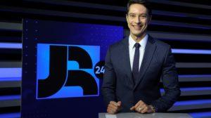 Sérgio Aguiar é um dos apresentadores do Jornal da Record (foto: Antonio Chahestian/Record)