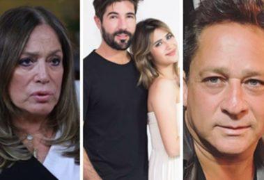 Jéssica Costa, filha de Leonardo, é casada com o ex de Susana Vieira, Sandro Pedroso (Foto: Montagem/TV Foco)