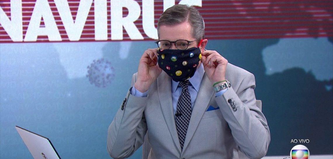 Jornal Nacional estreará uso de máscaras em repórteres (Foto: Divulgação)