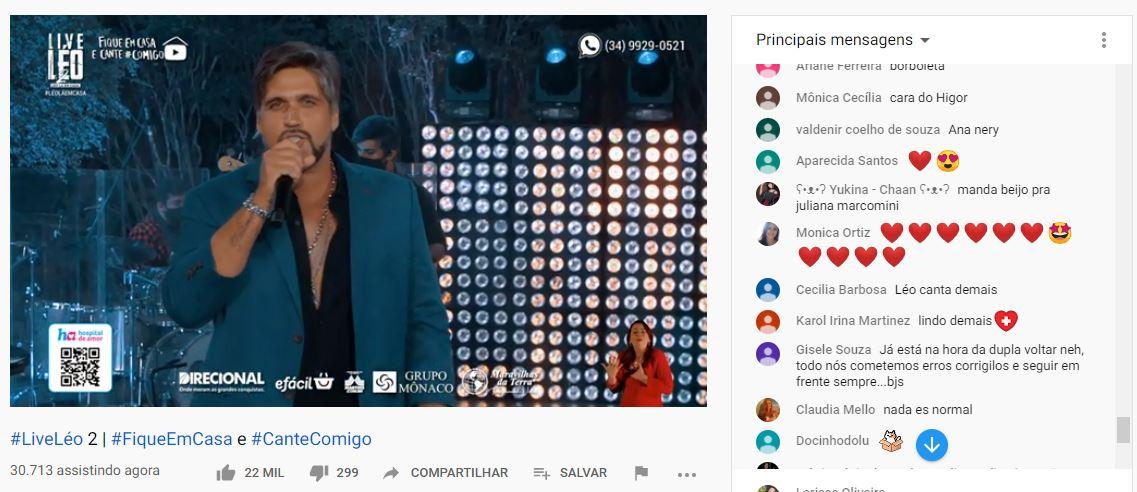 Fãs perdem a volta de Victor e live protagonizada por irmão (Foto: Reprodução)