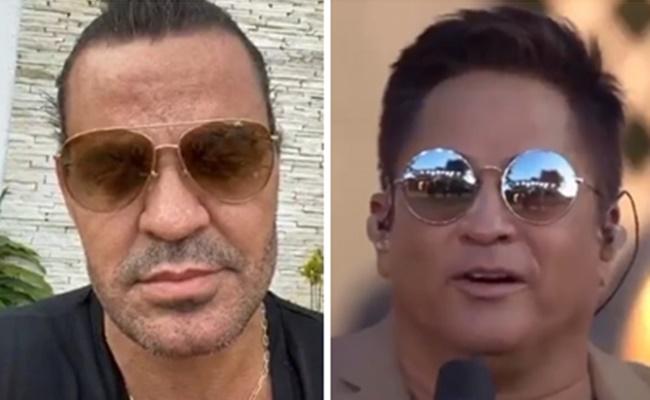 Público elogiou live de Leonardo sem a presença de Eduardo Costa (Foto: Montagem/TV Foco)