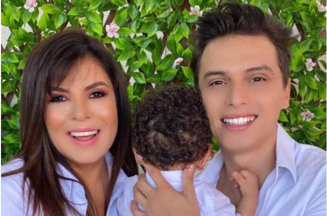 Mara Maravilha com o marido e filho Benjamim (Foto: Reprodução)
