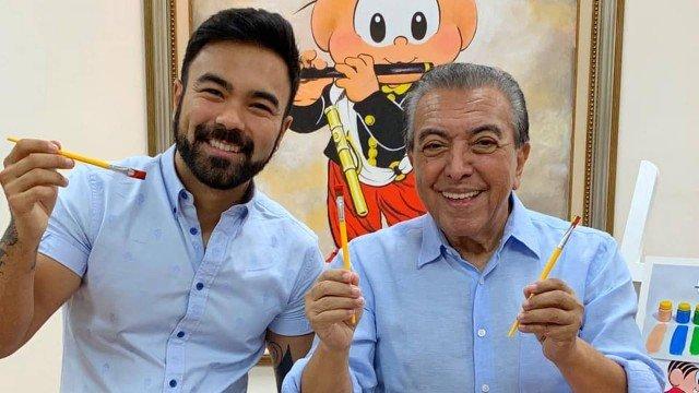 Mauro de Sousa e Maurício de Sousa, criador da Turma da Mônica (Foto: Divulgação)