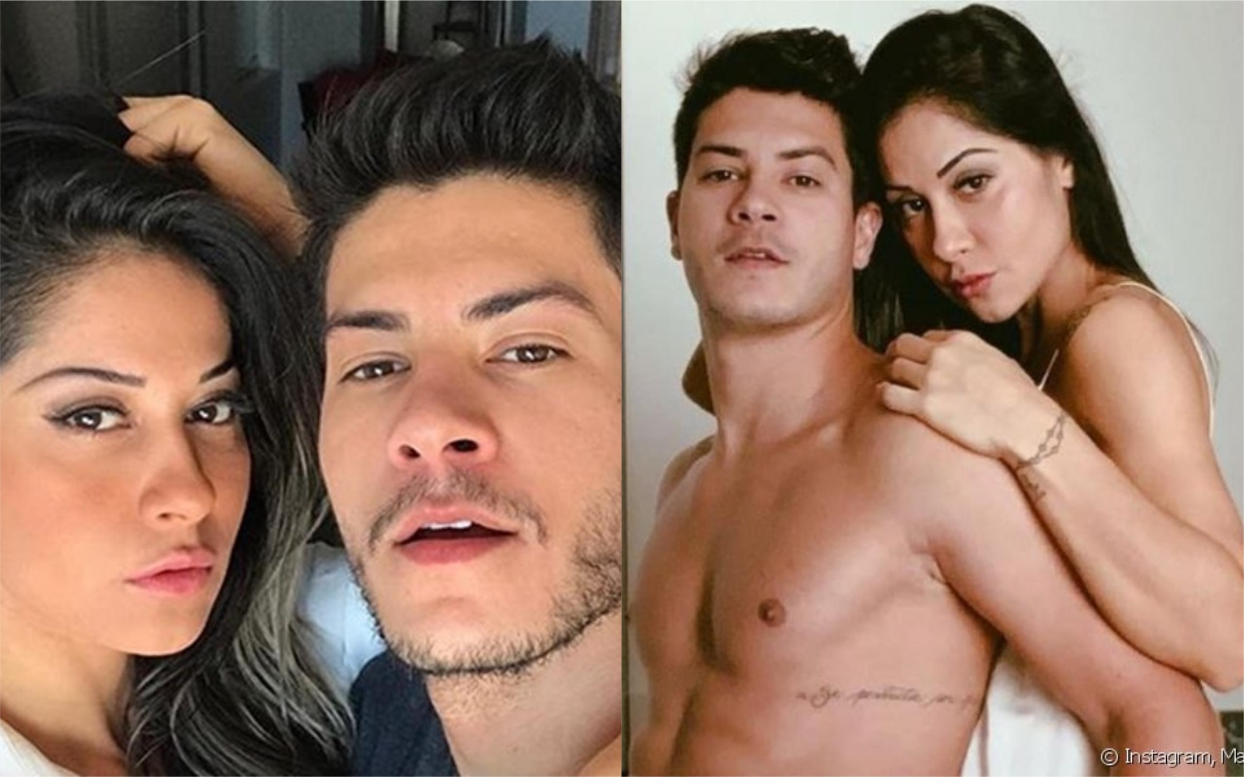 Mayra Cardi e Arthur Aguiar se separaram mas continuam morando juntos (Foto: TV Foco)