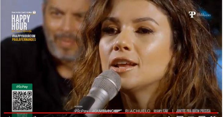 Paula Fernandes em nova live (Foto: Reprodução)