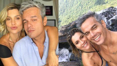 Flávia Alessandra e Otaviano Costa revelam ter ficado excitados durante cena (Foto: Reprodução/Instagram)