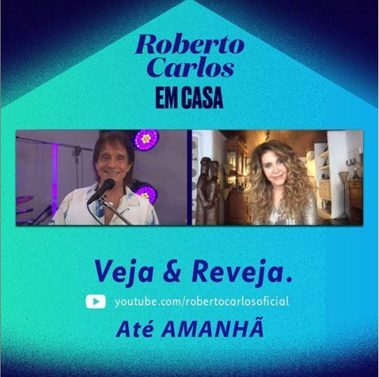 Roberto Carlos e Wanderlea (Foto: Reprodução)