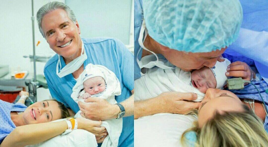 Ana Paula Siebert e Roberto Justus mostram nascimento da primeira filha em fotos nas redes sociais. (Foto: Reprodução/Hanna Rocha)