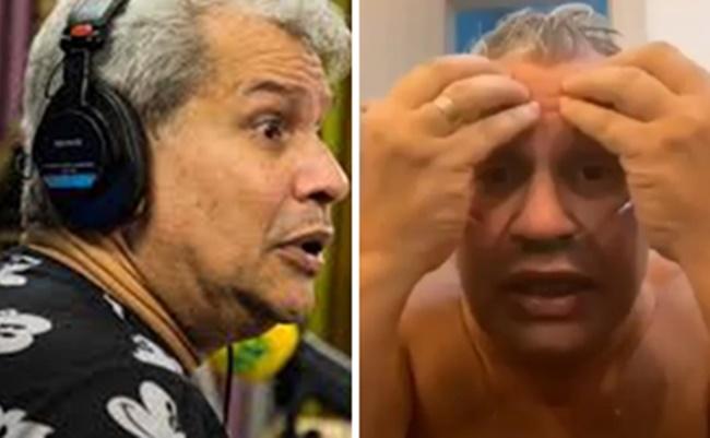 """Coronavírus: Sikêra Jr apareceu em vídeo defendendo o uso da """"cloroquina"""" (Foto: Montagem/TV Foco)"""