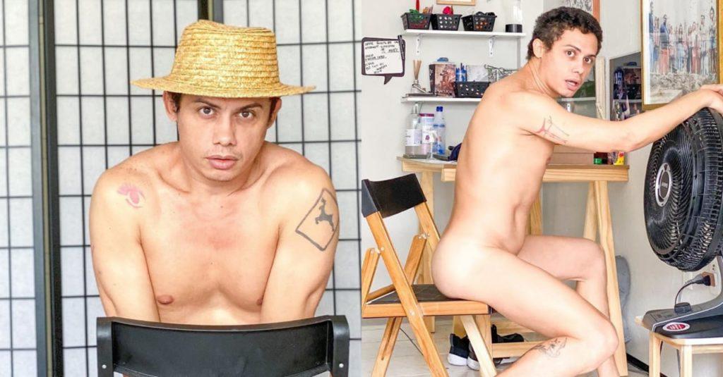 Ator Silvero Pereira posta foto pelado em redes sociais (Foto: Reprodução/Instagram)