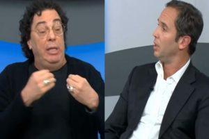 Walter Casagrande e Caio Ribeiro discutiram ao vivo na TV (Foto: Reprodução)