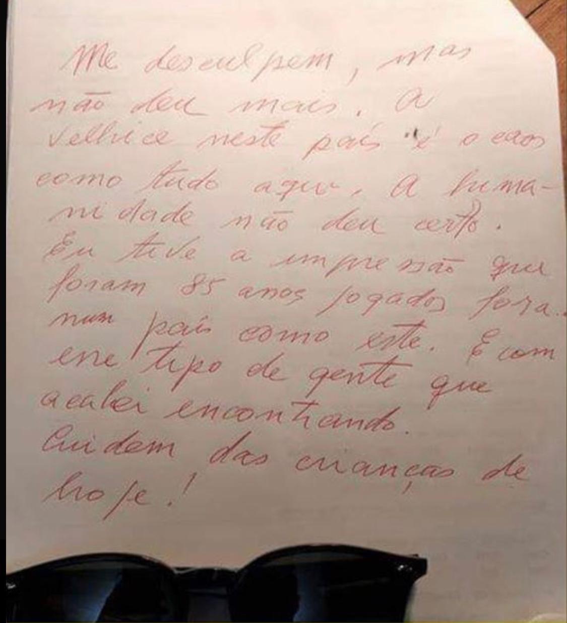 Carta de despedida de Flávio Migliaccio foi divulgada (Foto: Reprodução/WhatsApp)