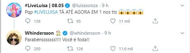 Whindersson Nunes interage com Luísa Sonza (Foto: Reprodução)