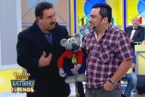 Ratinho e Eduardo Mascarenhas, intérprete do Ratinho (Foto: Reprodução)