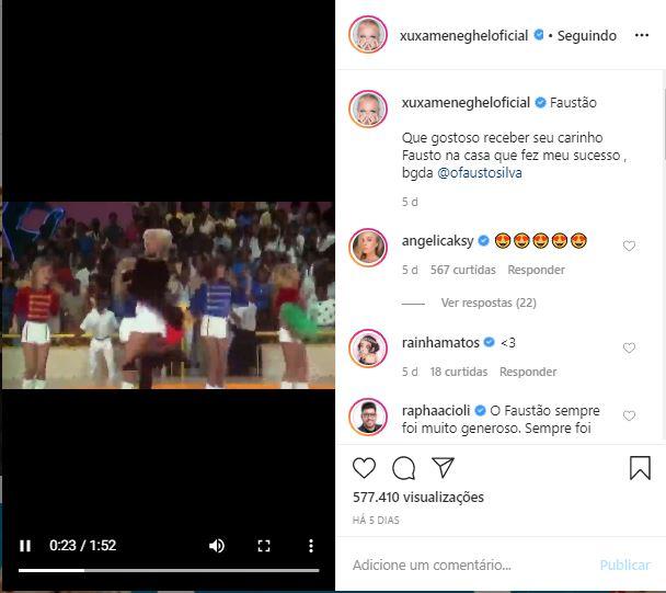 Xuxa na Globo (Foto: Reprodução)