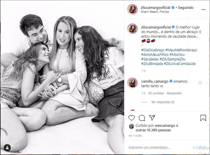 Zilu Godói usou as redes sociais para falar filhos (Foto: Reprodução)