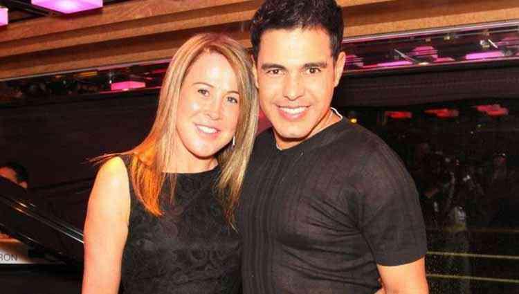 Zezé casou aos 19 anos e com a ex-mulher Zilu (Foto: Reprodução)