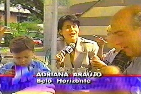 Adriana Araújo no início de sua carreira (Foto: reprodução/Globo)