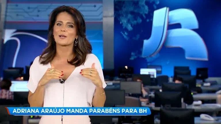 A âncora do 'Jornal da Record' (Foto: reprodução)