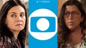 Adriana Esteves e Regina Casé, protagonistas de Amor de Mãe; elenco teve reviravolta em contrato com a Globo (Foto: Reprodução/Globo)
