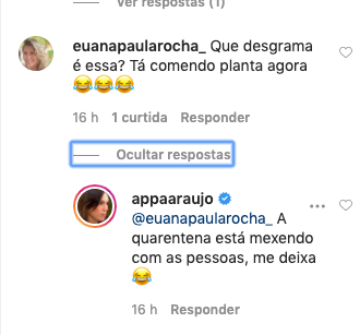 Internauta estranhou clique de Ana Paula Araújo (Reprodução)