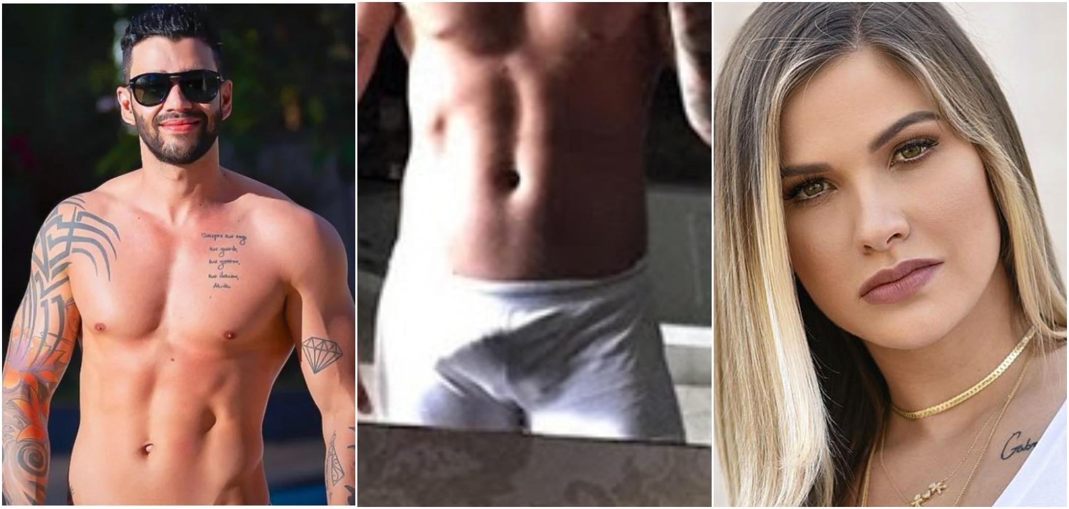 """Andressa Suita e Gusttavo Lima brincaram sobre """"chá de picão"""" em live"""