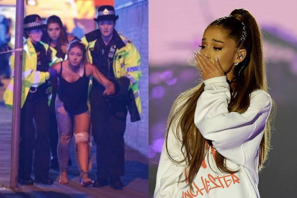 Ariana Grande lamenta e relembra atentado em um de seus shows em Manchester (Foto: Reprodução)