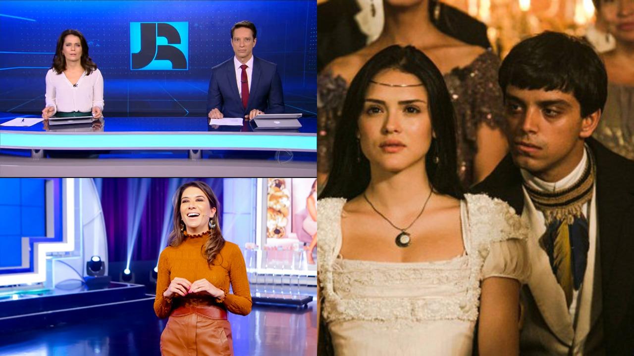 Jornal da Record, Novo Mundo e Roda a Roda foram destaques de audiência (Foto: Reprodução/Globo/Record/SBT)