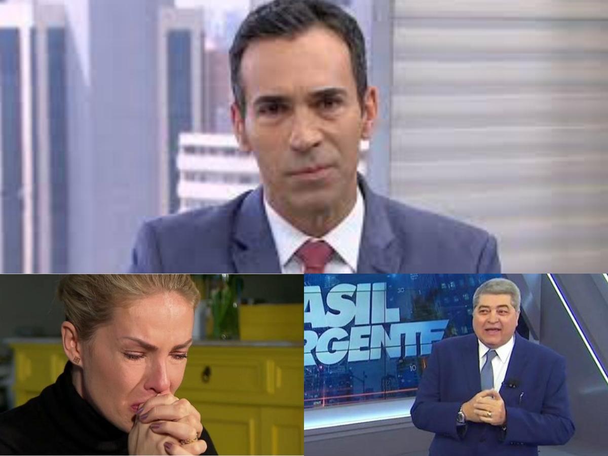 Audiência da TV desta sexta-feira 29 de maio: Cesar Tralli leva Globo ao fundo do poço, Hoje Em Dia despenca e Datena faz Band subir igual foguete (Foto: Reprodução/Montagem TV Foco)