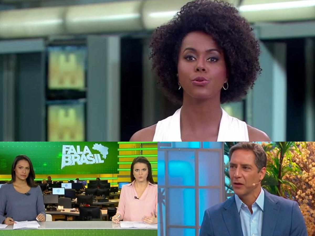 Audiência 15/05: Maju Coutinho pisa na concorrência, Fala Brasil tira Record do limbo e Aqui na Band fracassa (Foto: reprodução/Montagem TV Foco)