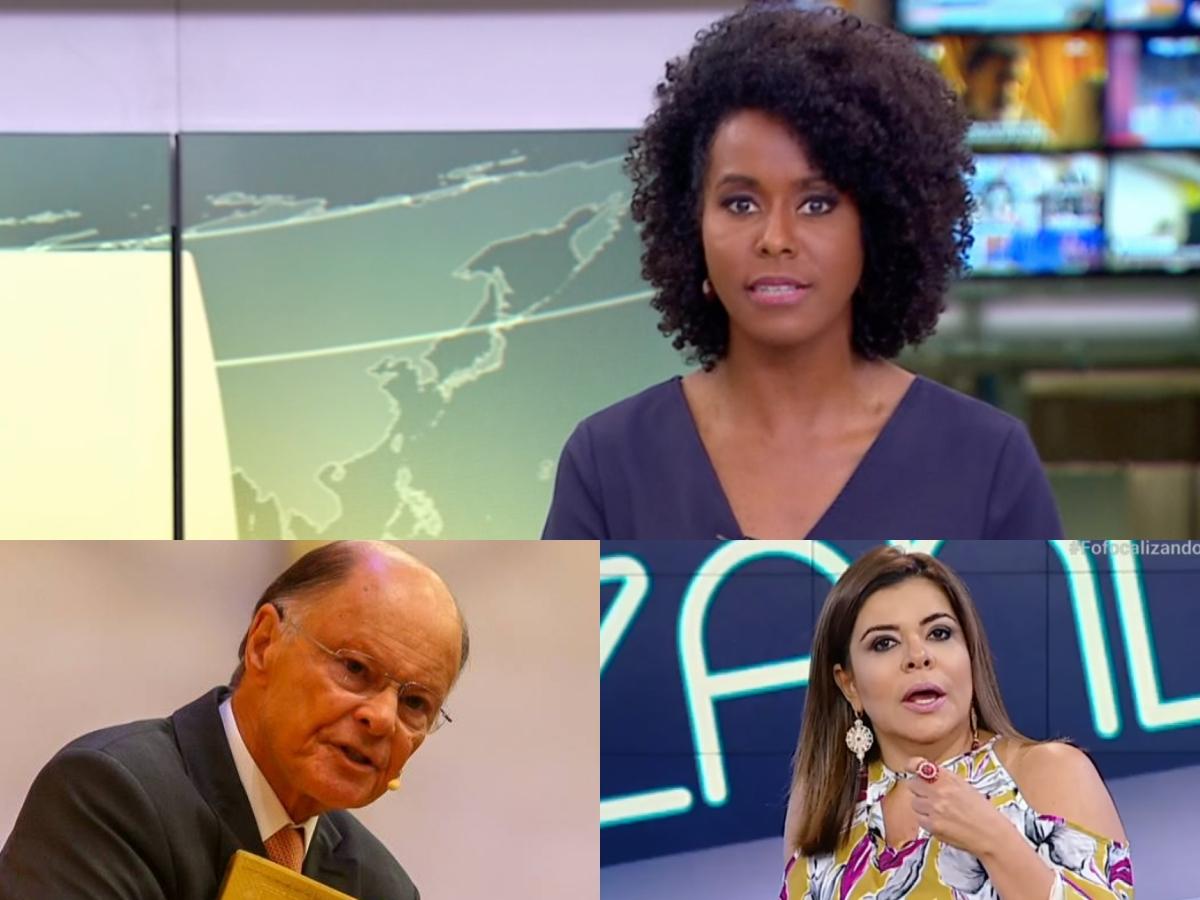 Audiência da TV: Maju Coutinha faz Jornal Hoje arrebentar, novelas levam Record ao fundo do poço e Fofocalizando vai mal (Foto: Reprodução/Montagem TV Foco)