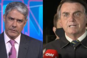 Bolsonaro ataca jornalismo da Globo (Foto: Montagem)