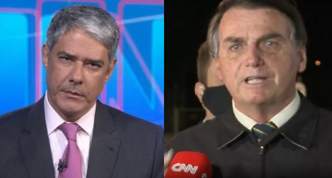 William Bonner fala sobre o presidente Jair Bolsonaro no Jornal Nacional (Foto: Montagem)