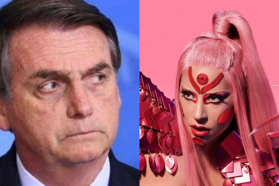 Lady Gaga e Bolsonaro protagonizam briga feia (Foto: Reprodução)