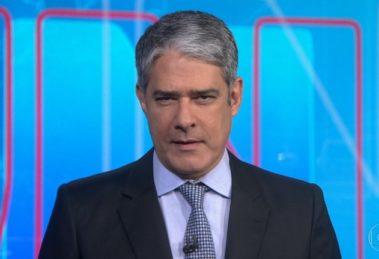 William Bonner estaria se sentindo estressado (Foto: Reprodução/Globo)