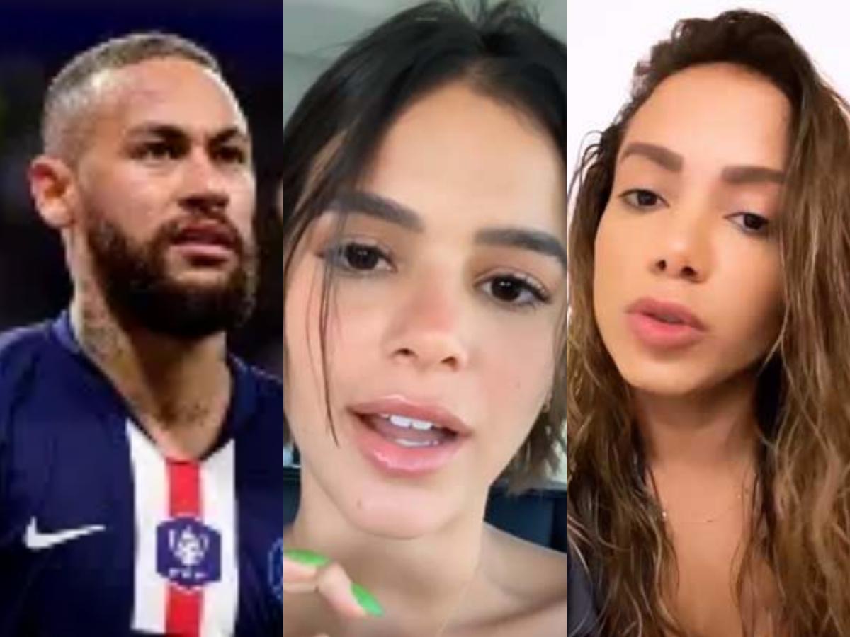 Bruna Marquezine é envolvida em polêmica com Anitta, Neymar e Leo Dias (Foto: Reprodução/Montagem TV Foco)