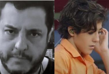 O cantor Bruno, da dupla com Marrone, e seu filho, Enzo Rabelo (Foto: Divulgação)