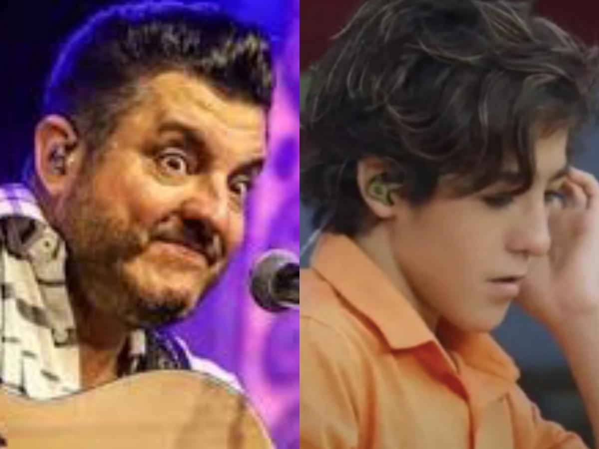O famoso cantor sertanejo Bruno, da dupla com Marrone, e seu filho, Enzo Rabelo causaram polêmica nas redes sociais (Foto: Divulgação)