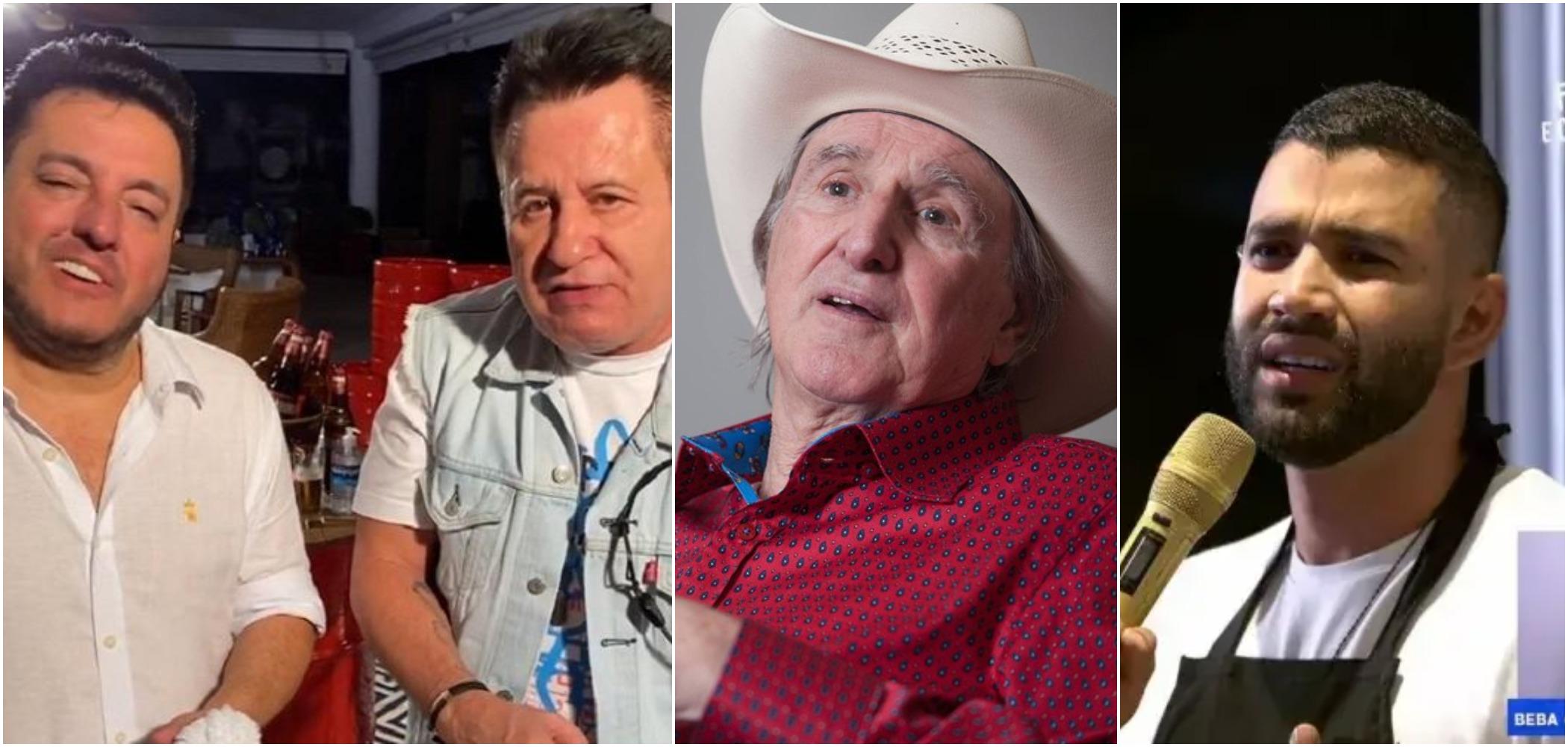 Sérgio Reis detonou o excesso de bebida nas lives de Bruno e Marrone e Gusttavo Lima