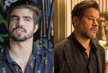 Caio Castro e Murilo Benício: famosos têm casas extravagantes (Foto: Reprodução e Estevam Avellar/Globo)