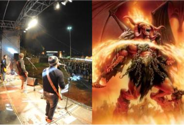 Cantor vai ao inferno e tem contato direto com o diabo (Foto: Reprodução)