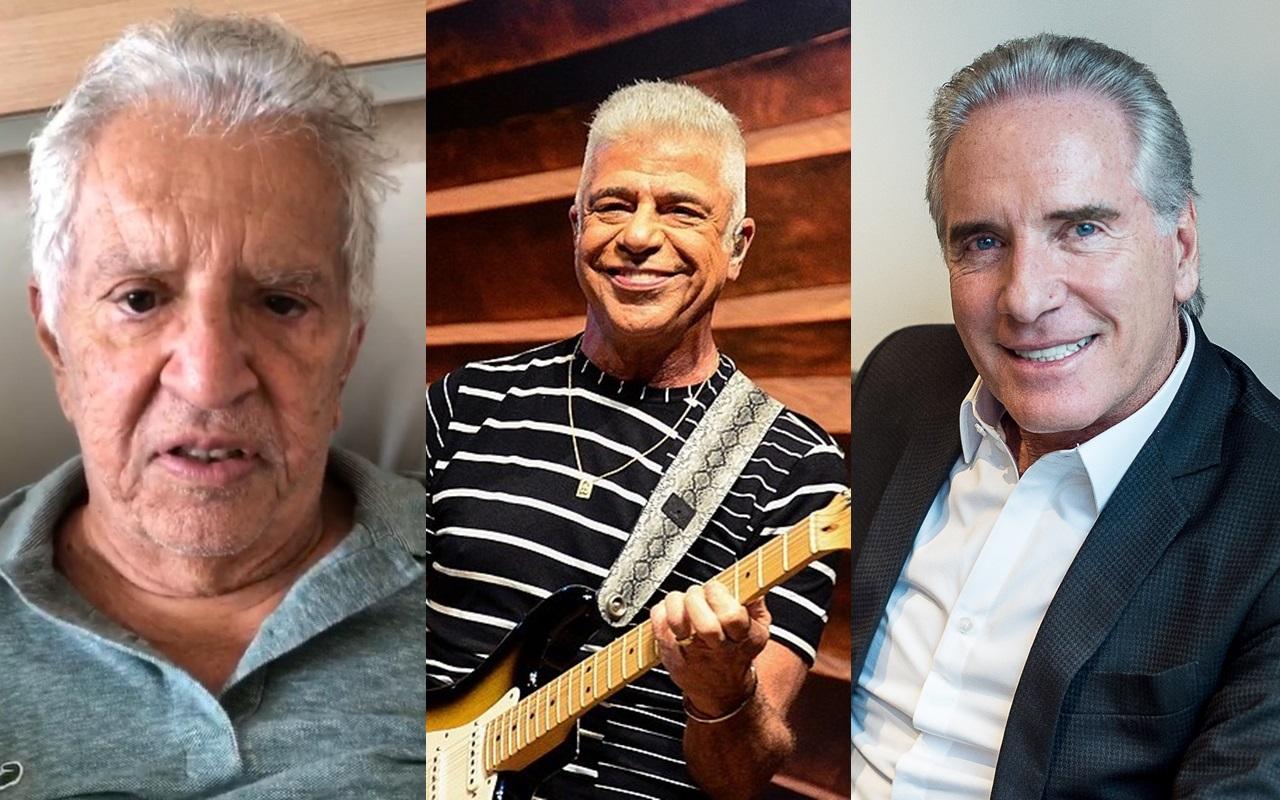 Carlos Alberto, Lulu Santos e Roberto Justus possuem relacionamentos polêmicos (Foto: montagem TV Foco)