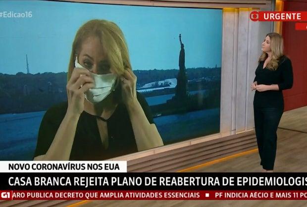 A jornalista Sandra Coutinho passou por constrangimento ao vivo com Christiane Pelajo - Foto: Reprodução