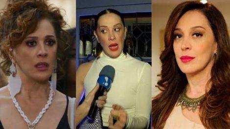 Claudia Raia revela que foi surpreendida por uma cusparada no rosto durante gravações de uma novela da Globo (Montagem: TV Foco)
