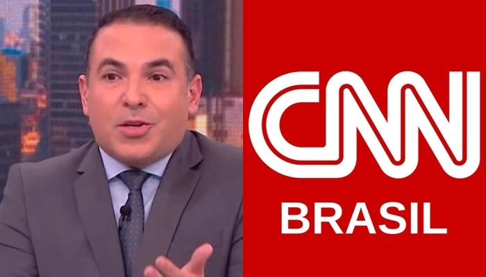 Reinaldo Gottino no CNN Novo Dia; apresentador foi tirado do ar após problema técnico (Foto: Reprodução/CNN Brasil)