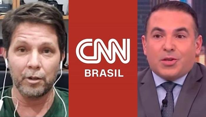Mario Frias ficou revoltado após ser motivo de chacota na CNN Brasil e criticou Reinaldo Gottino (Foto: Reprodução/CNN Brasil/Montagem)