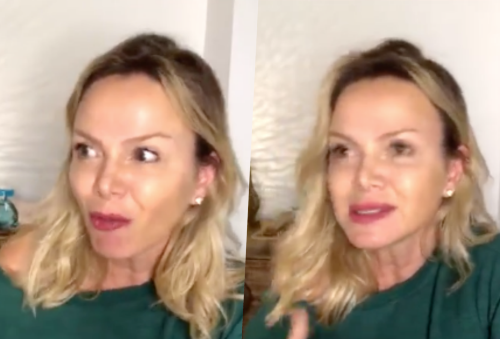 Eliana falou sobre treta ao vivo para Fábio Porchat no Instagram (Foto montagem)