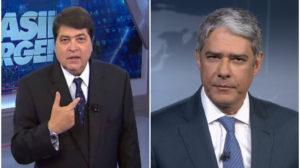Datena teria feito aliança com a Globo e William Bonner - Foto: Montagem